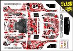 Red Stickerbomb themed vinyl SKIN Kit To Fit Traxxas Slash 4x4 Short Course Truck